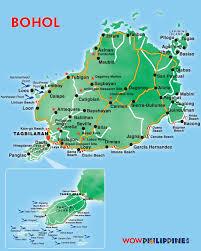 bohol island tourist map  bohol island • mappery