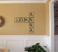 create your own scrabble wall art