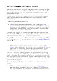 Sample Resume Questions Best Photos of Sample Interview Questions And Answers Interview 37