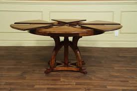 entrancing expandable round table plans of solid walnut round arts