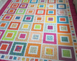 Square in Square Patchwork Quilt // Modern Quilt // City & Patchwork Quilt