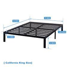 [ Model E ] - Heavy Duty Steel Slat Platform Bed, Sturdy & Durable bed Frame