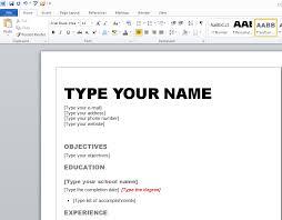 Resume Template Microsoft Word 2010 Techtrontechnologies Com