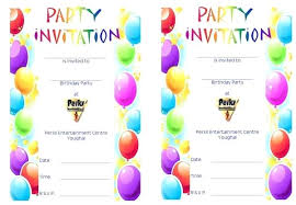 Microsoft Word Birthday Invitation Templates Printable Birthday Invitation Template Microsoft Word Party