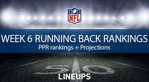 Tampa Bay Depth Chart Rb Week 6 Rb Rankings Ppr Running Back Fantasy Stats Projections