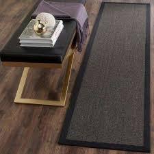 natural fiber charcoal 3 ft x 14 ft runner rug