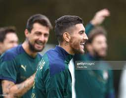 Lorenzo Pellegrini of Italy in action during a Italy training session...  Foto di attualità - Getty Images