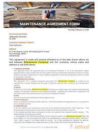 Download 1 download 2 ( for website ) download 3 download 4 download 5 download 6. Maintenance Agreement Template Pdf Templates Jotform