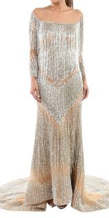 By Walid Designer Rent Walid Shehab Fringe Gown In Lebanon Designer 24