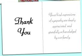 Thank You After Funeral Acknowledgement Cards