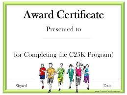 Fun Run Certificate Template Fun Run Certificate Template Sports Certificates Running