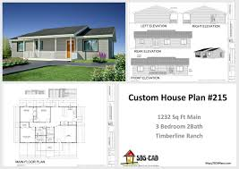 H Modest Timberline Ranch House Plans PDF  amp  DWGModest Timberline Ranch House Plans