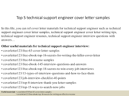 Top Technical Support Engineer Cover Picture Collection Website