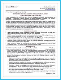 Business Management Analyst Resume Professional Business Development