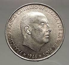 Amazon.com: 1966 Francisco Franco Cadillo de España 100 pesetas Ar español  moneda i56628: Toys & Games