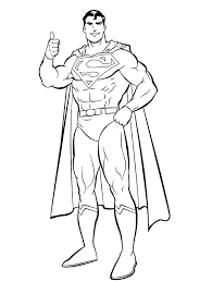 Small Picture Superman Coloring Pages For Preschoolers Super Heroes Coloring