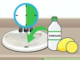 astonishing clogged bathroom sink baking soda vinegar image titled clean a ceramic sink without chemicals step 2 unclog bathtub drain baking soda vinegar