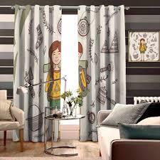 Glass Door Designs For Living Room Amazon Com Floragrantnan Curtains For Sliding Glass Door