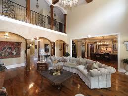 Mediterranean Living Room Design Mediterranean Living Room With Chandelier Hardwood Floors In
