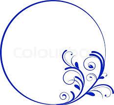 vintage frame design oval. Round Frame With Decorative Branch. Vector Illustration, Vintage Design Oval