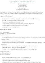 Professional Warehouse Resume Warehouse Supervisor Resume Samples Fascinating Warehouse Supervisor Resume