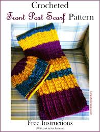 Double Crochet Scarf Patterns Fascinating Simply Shoeboxes Double Crochet Front Post Crochet Scarf For OCC