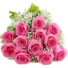 luminous pink roses bouquet of love