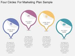 Marketing Plan Powerpoints Four Circles For Marketing Plan Sample Powerpoint Template