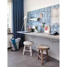 Ook Een Werkplek Thuis Kan Sfeervol Zijn Hang Mooi Behang Op Voor