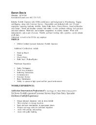 Baron Davis Forklift Resume. Baron Davis Glendale, AZ 85304  barondavis@ymail.com 602-733-7152 ...