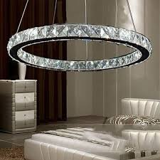 FAGL LED <b>Crystal Pendant Lamps</b> Lighting Light Transparent ...
