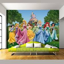 Minions Bedroom Wallpaper Disney Princesses And Castle Wallpaper Great Kidsbedrooms The