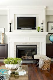 fireplace mantel height with tv above image collections