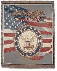 Us Navy Throw Blanket