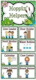Jobs Clip Chart More Classroom Helpers Classroom Jobs
