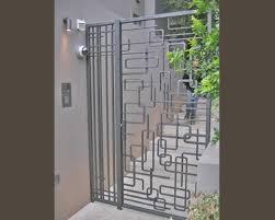 modern metal gate. Modern Wrought Iron Railings Example Of A Mid Century Metal Gate Modern Metal Gate