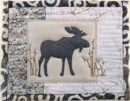 Best 25+ Moose quilt ideas on Pinterest | Toddler blanket, Forest ... & Quilted card with silkscreened moose Mug rug Adamdwight.com