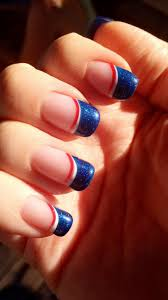 Gel Nail Designs For 4th Of July Fourth Of July Patriotic Gel Nails With Colored Tips Nails