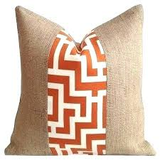 burlap outdoor pillows tangerine and cream key indoor fabric pillow cover home decorators bedrooms images new