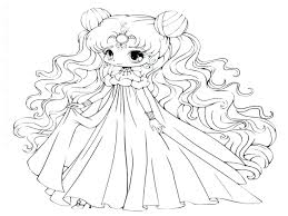 Coloring Pages For Kids Cute Disney Princesses Anime Printable