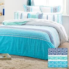 Makani Quilt Cover Set - Blue/Aqua | Quilt cover, Aqua and Cotton ... & Makani Quilt Cover Set - Blue/Aqua Adamdwight.com