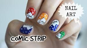 NAIL ART #38 - COMIC STRIP * LISA BLABLA - YouTube