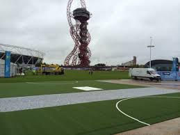 artificial grass rugby pitch fan zone olympic park london