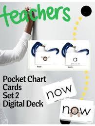 Pocket Chart Meaning Eyewords Mulstisensory Sight Words Pocket Chart Cards Set 2 Words 51 100