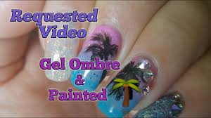 how to gel ombre hand painted palm tree requested