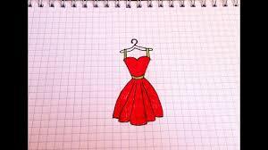 простые рисунки 113 как просто нарисовать платье