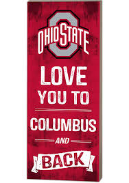 ohio state buckeyes 18x7 love you to and back wall art
