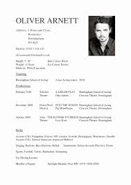 Acting Resume Theatre Resume Example New Acting Resume Template Daily Actor 51