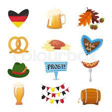 Traditional Symbols Traditional Symbols Of The Oktoberfest Stock Vector Colourbox