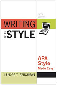 Amazon Com Writing With Style Apa Style Made Easy 9780840031679